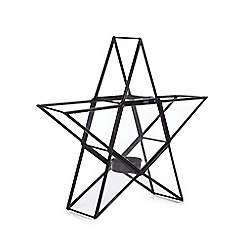 Debenhams - Black star tealight holder