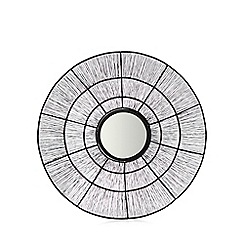Debenhams - Black wire round mirror