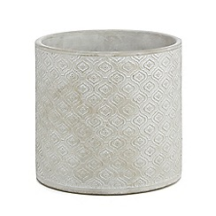 Parlane - Grey stoneware 'Rocco' planter