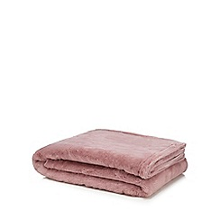 Home Collection - Pink faux fur throw