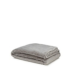 Home Collection Grey Faux Fur Throw