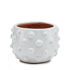 Parlane - White ceramic 'Fenella' planter