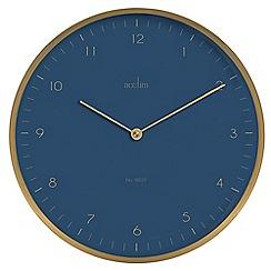 Acctim - Brushed metal 'Madison' wall clock 29519
