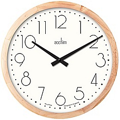 Acctim - Wooden 'Leeste' wall clock 24981
