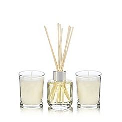 Home Collection - White jasmine votive candle and diffuser set