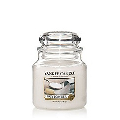 Yankee Candle - Medium 'Baby Powder' scented jar candle