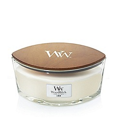 WoodWick - 'Linen' hearthwick scented jar candle