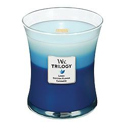 WoodWick - Medium 'Trilogy' clothesline fresh scented jar candle