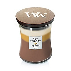 WoodWick - Medium 'Trilogy' café sweets scented jar candle