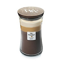 WoodWick - Large 'Trilogy' café sweets scented jar candle