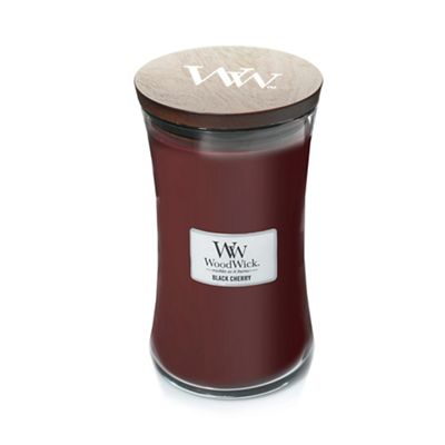 Wood Wick   Large 'black Cherry' Scented Jar Candle by Wood Wick