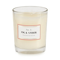 Home Collection - White fig & amber votive candle