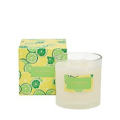 Debenhams - Green gin and tonic scented candle