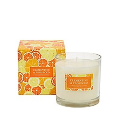 Debenhams - Orange clementine and prosecco scented candle