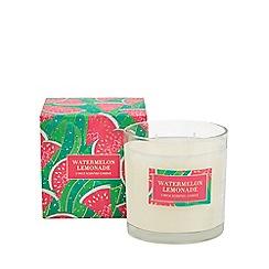 Debenhams - Pink watermelon and lemonade scented candle