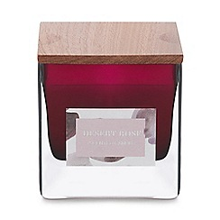 Debenhams - Plum Small Desert Rose Scented Candle