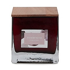 Debenhams - Plum large desert rose scented candle