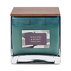 Debenhams - Green large wild fig and honey scented candle