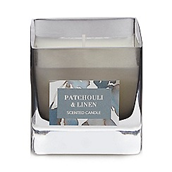 Debenhams - Grey Patchouli & Linen Scented Candle
