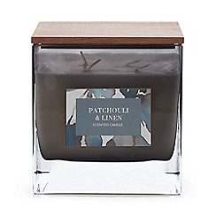 Debenhams - Grey Large Patchouli and Linen Scented Candle