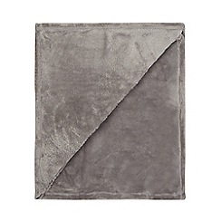 Home Collection Basics - Grey fleece throw