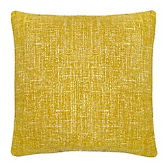 Home Collection - Yellow textured chenille cushion