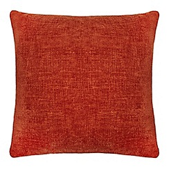 Home Collection - Burnt orange chenille cushion