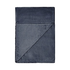 Home Collection Basics - Blue fleece throw