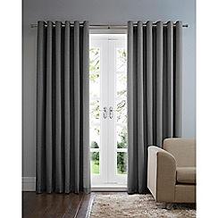 Home Collection Basics - Dark grey cotton eyelet curtains