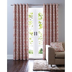 Home Collection - Orange print eyelet curtains
