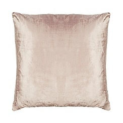 Home Collection - Dusky pink textured velvet cushion