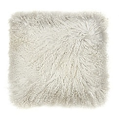Home Collection - Grey sheepskin cushion
