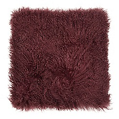 Home Collection - Wine red sheepskin cushion