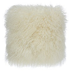 Home Collection - Cream sheepskin cushion