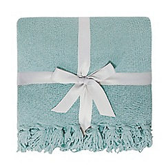 Home Collection - Duck egg chenille throw