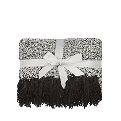Home Collection - Grey two tone boucle throw