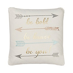 Home Collection - Multi-coloured embroidered  cushion