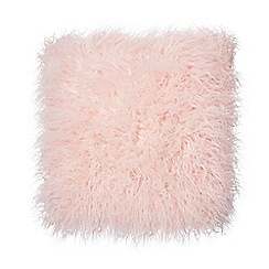Home Collection - Pink faux fur  cushion