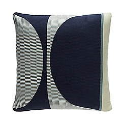 Debenhams - Blue Knitted Stripe Cushion