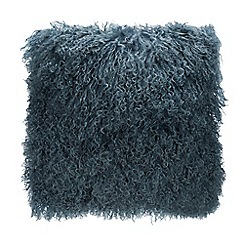 Debenhams - Blue Sheepskin Cushion