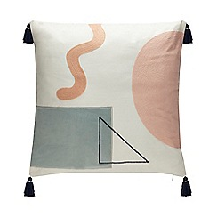 Debenhams - White Patch Cushion