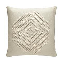 Debenhams - Natural Embroidered Cushion