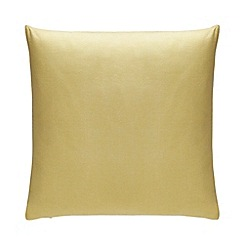 Debenhams - Yellow Chambray Cushion