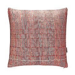 Debenhams - Red 'Tivoli' Line Print Cushion
