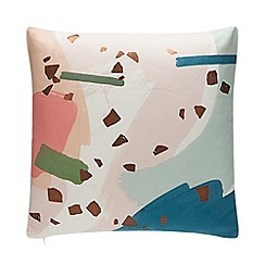 Debenhams - Multicoloured Abstract Print Cushion