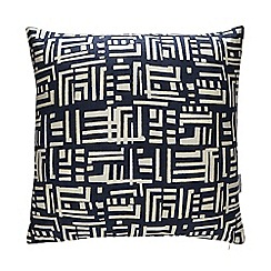 Debenhams - Blue 'Södermalm' Abstract Print Cushion
