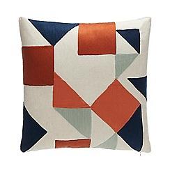 Debenhams - Multicoloured Geometric Embroidered Cushion