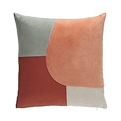 Debenhams - Multicoloured Geometric Patch Cushion