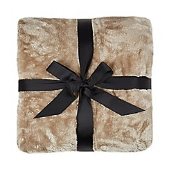 Home Collection - Natural faux fur throw