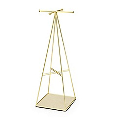 Umbra - Gold steel prisma jewellery stand